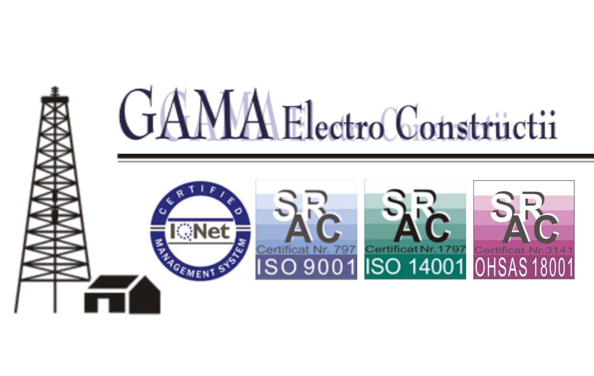 Locuri de munca GAMA ELECTRO - CONSTRUCTII SRL
